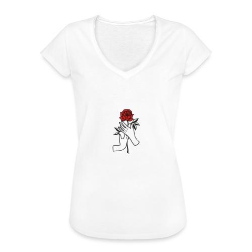Fiore rosso - Maglietta vintage donna