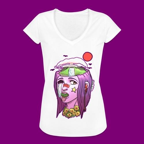 Pink Girl - Vrouwen Vintage T-shirt
