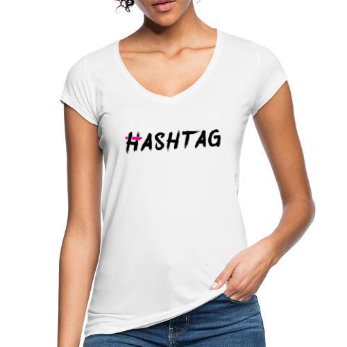 Hashtag blacklabeld - Frauen Vintage T-Shirt