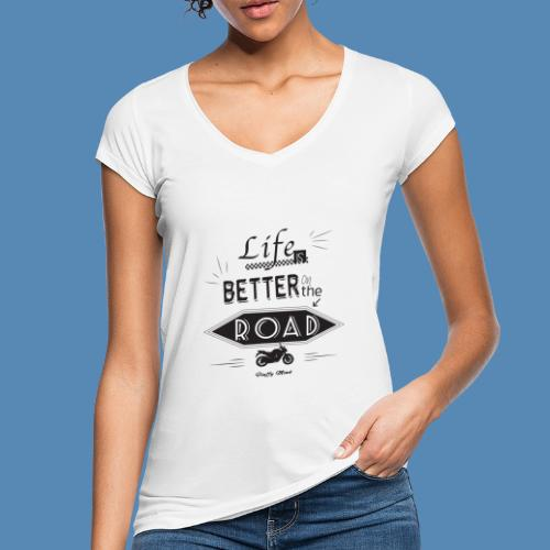 Moto - Life is better on the road - T-shirt vintage Femme