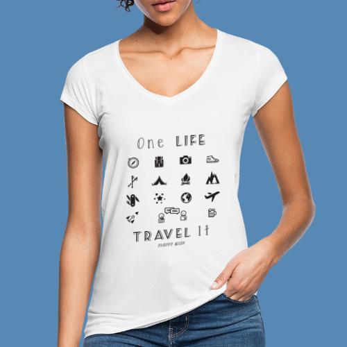 One Life, Travel It - T-shirt vintage Femme