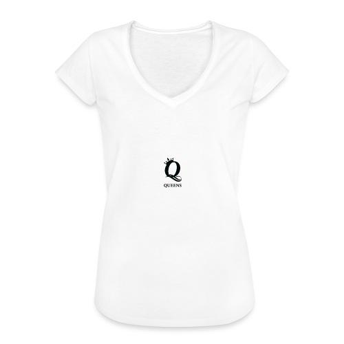 queens logo - Vintage-T-skjorte for kvinner