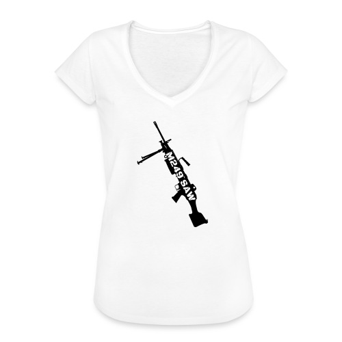 M249 SAW light machinegun design - Vrouwen Vintage T-shirt