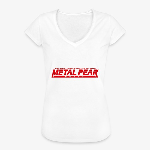 Metal Pear Solid: Tactical Greengrocer Action - Women's Vintage T-Shirt