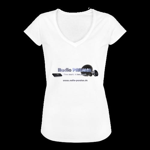 Radio PARALAX Facebook-Logo mit Webadresse - Frauen Vintage T-Shirt