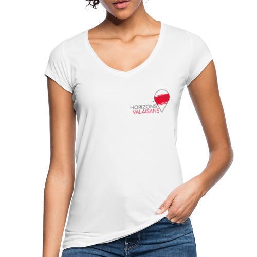 Horizons Valaisans (noir) - T-shirt vintage Femme