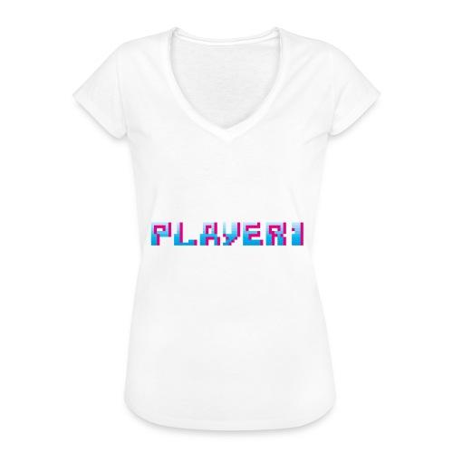 Arcade Game - Player 1 - Women's Vintage T-Shirt