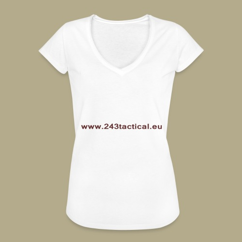.243 Tactical Website - Vrouwen Vintage T-shirt