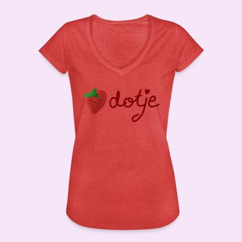 Baby aardbei Dotje - cute - Vrouwen Vintage T-shirt