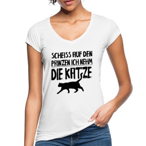 Katze Katzen Katzenliebhaber Geschenk Katzenliebe - Frauen Vintage T-Shirt