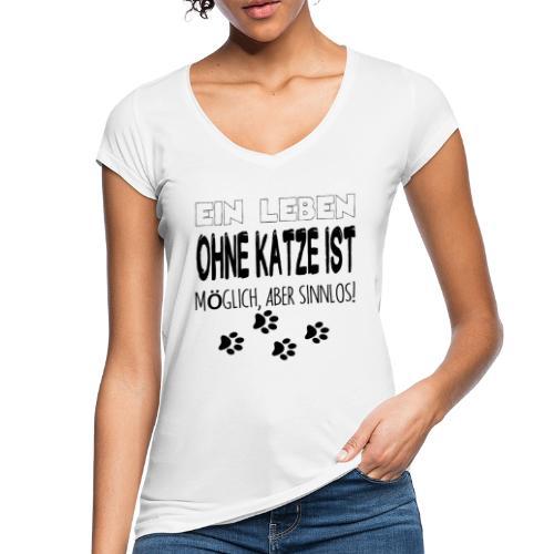Katzen Katze Geschenk Katzenliebhaber Cat - Frauen Vintage T-Shirt