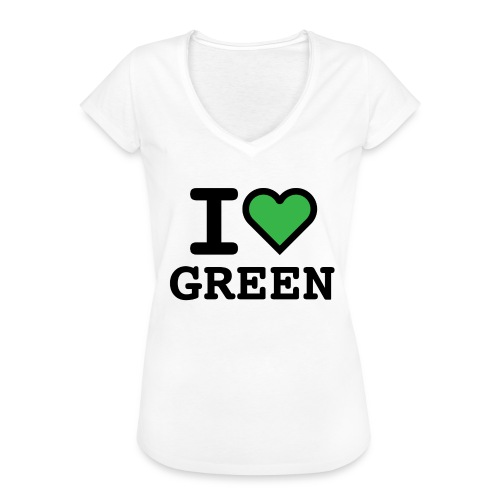 i-love-green-2.png - Maglietta vintage donna
