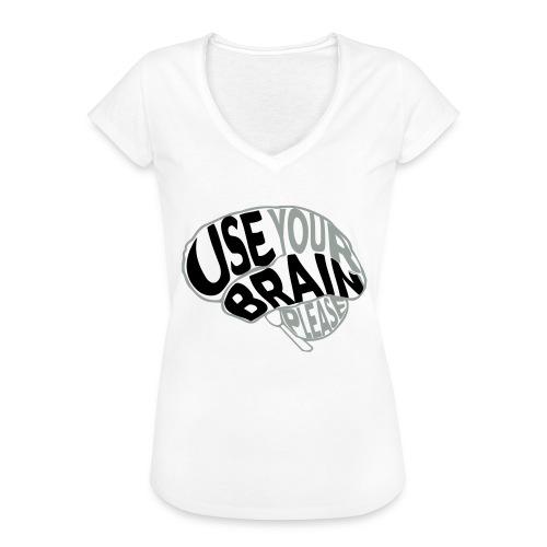 Use your brain - Maglietta vintage donna