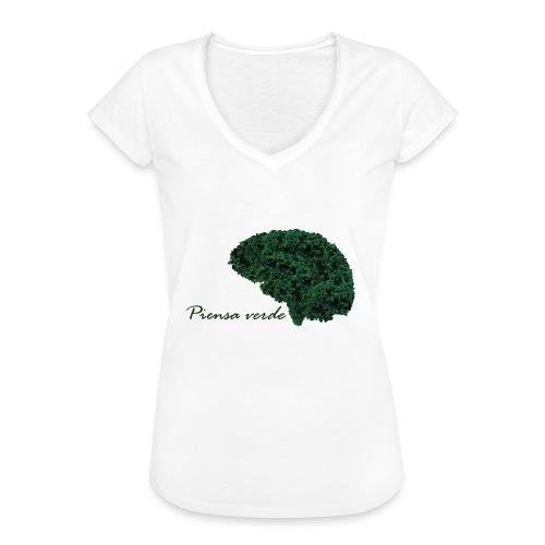 Piensa verde - Camiseta vintage mujer