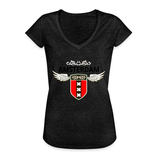 Amsterdam Netherlands - Frauen Vintage T-Shirt