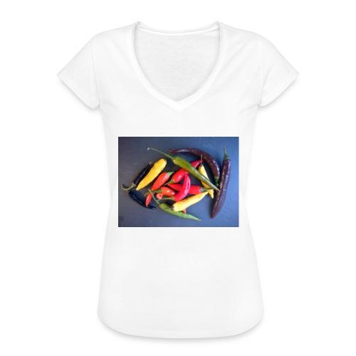 Chili bunt - Frauen Vintage T-Shirt