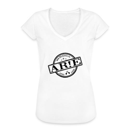 Backdrop AR E stempel zwart gif - Vrouwen Vintage T-shirt