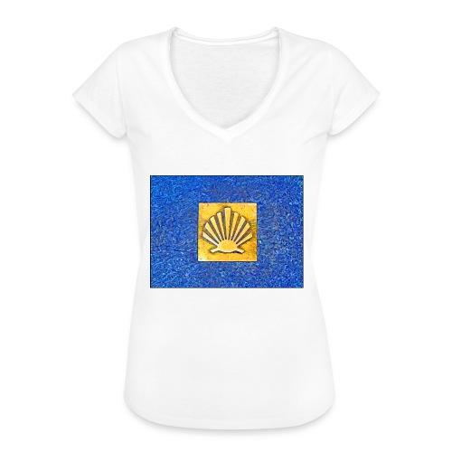 Scallop Shell Camino de Santiago - Women's Vintage T-Shirt