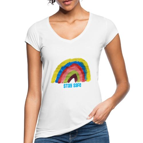 Stay Safe Rainbow Tshirt - Women's Vintage T-Shirt