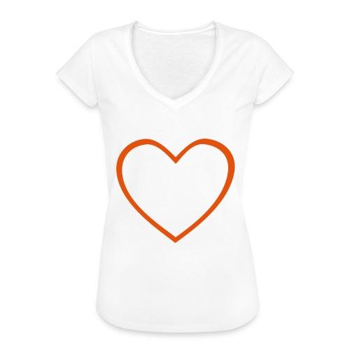 Hjärta 4 - Vintage-T-shirt dam