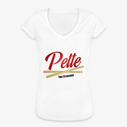 Pette the Drummer - Women's Vintage T-Shirt