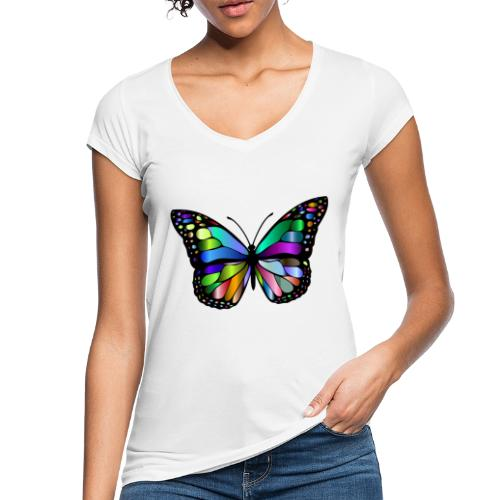 Kolorwy Motyl - Koszulka damska vintage