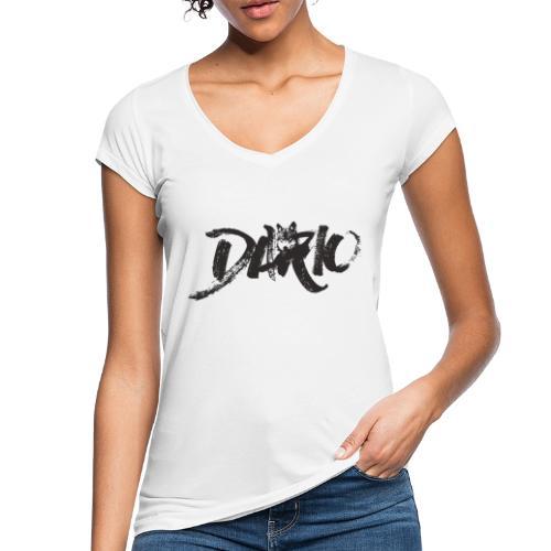 illustration logo noir - T-shirt vintage Femme