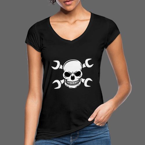 MEKKER SKULL - Dame vintage T-shirt