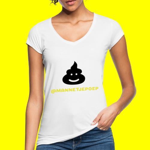Mannetje Poep Shit - Vrouwen Vintage T-shirt