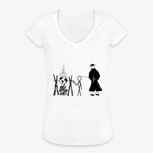 Pissing Man against human self-destruction - Frauen Vintage T-Shirt