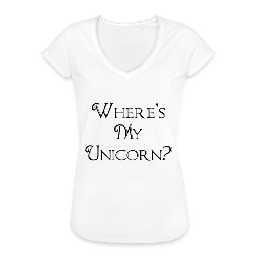 Where's My Unicorn - Women's Vintage T-Shirt