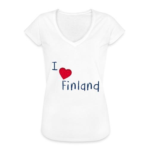 I Love Finland - Naisten vintage t-paita