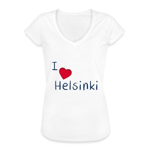 I Love Helsinki - Naisten vintage t-paita