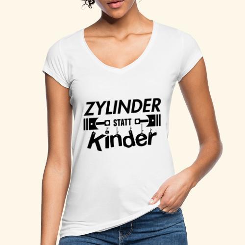 Zylinder Statt Kinder - Frauen Vintage T-Shirt