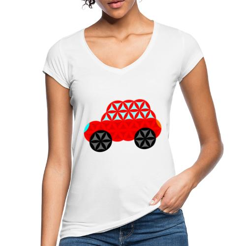 The Car Of Life - M01, Sacred Shapes, Red/R01. - Women's Vintage T-Shirt