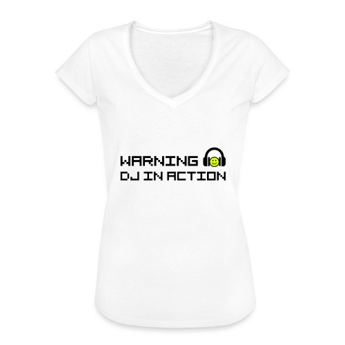 Warning DJ in Action - Vrouwen Vintage T-shirt