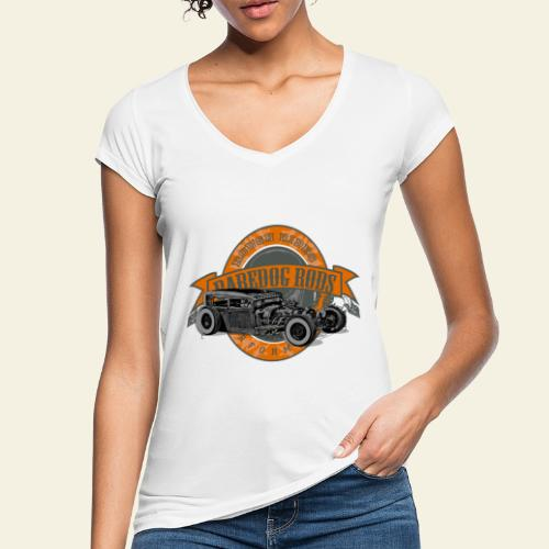 Raredog Rods Logo - Dame vintage T-shirt