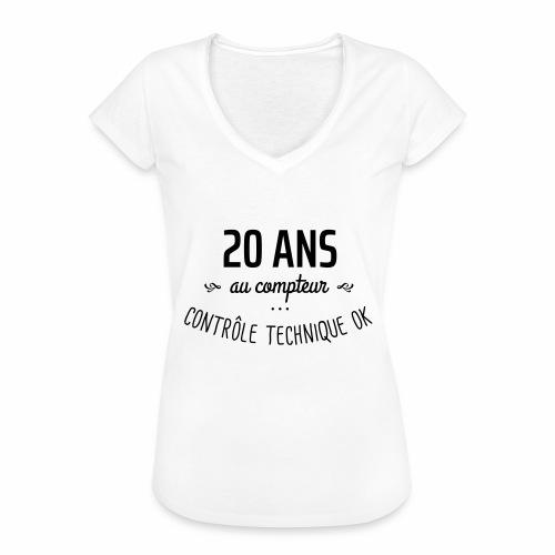 20 ans au compteur - T-shirt vintage Femme