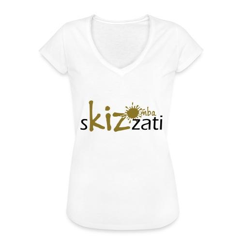 Beanie in jersey con logo sKizzati Kizomba - Verde - Maglietta vintage donna
