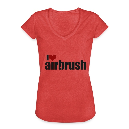I Love airbrush - Frauen Vintage T-Shirt