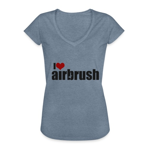 I Love airbrush - Frauen Vintage T-Shirt