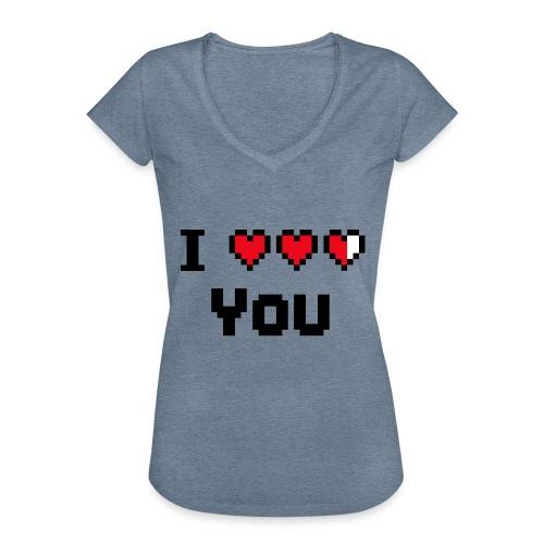 I pixelhearts you - Vrouwen Vintage T-shirt