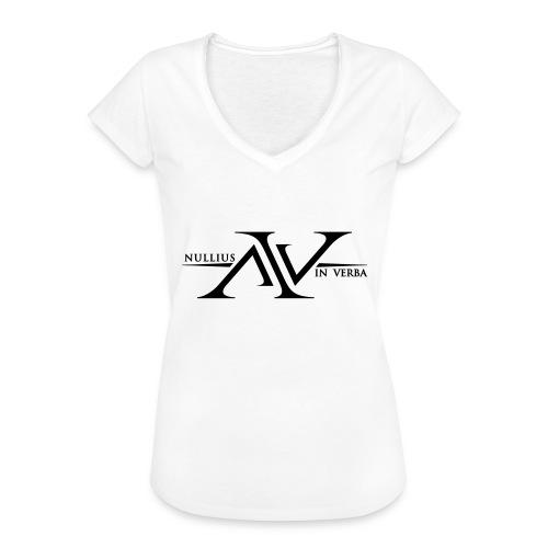 Nullius In Verba Logo - Women's Vintage T-Shirt