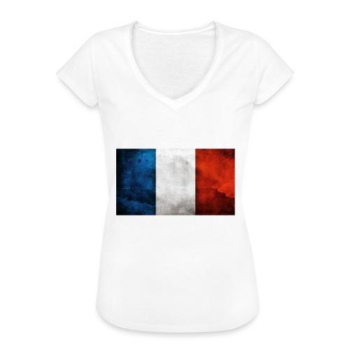 France Flag - Women's Vintage T-Shirt