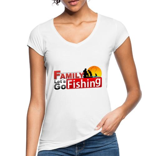 FAMILY LET´S GO FISHING FONDO - Camiseta vintage mujer
