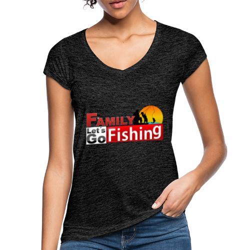 FAMILY LET´S GO FISHING FONDO - Camiseta vintage mujer