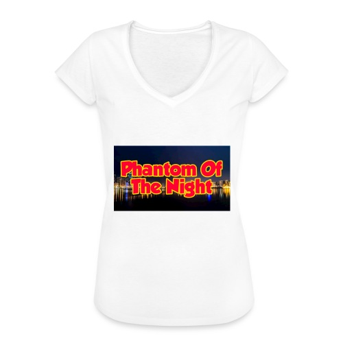 Phantom Of The Night Official Wear - Women's Vintage T-Shirt