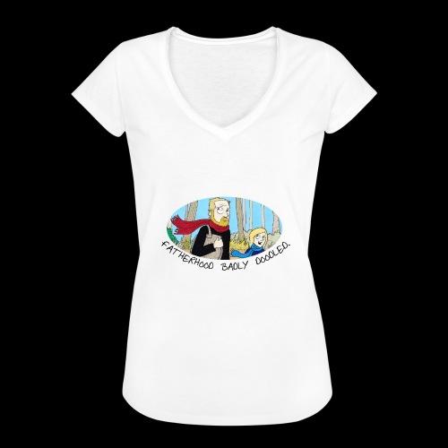 Fatherhood Badly Doodled - Women's Vintage T-Shirt