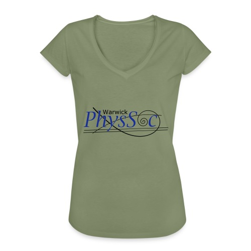 Official Warwick PhysSoc T Shirt - Women's Vintage T-Shirt