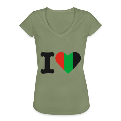 hartjeroodzwartgroen - Vrouwen Vintage T-shirt